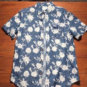 Men's Old Navy Button Up Warm navy flower short